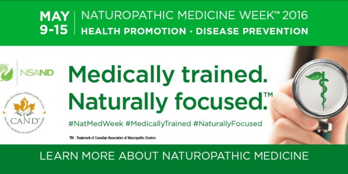 Naturopathic Medicine Week 2016 Nova Scotia May 9-15